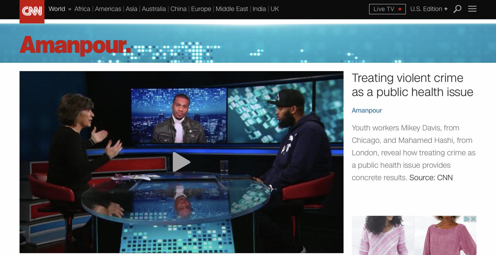 CNN: Treating violent crime as a public health issue